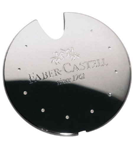 Faber-Castell Aluminium Pencil Sharpener UFO in Box Silver by Faber-Castell (Image #1)