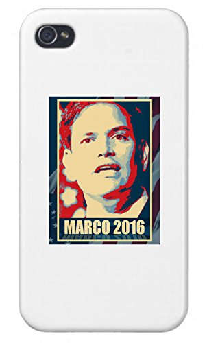 (Apple Iphone Custom Case 4 4s White Plastic Snap on - Marco Rubio - 2016 Presidential Candidate Design)