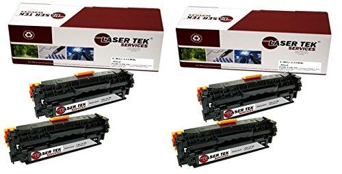 Laser Tek Services® 4 Pack Canon 131BK (6272B001AA) Black...