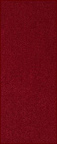 Home Queen Solid Color Custom Size Runner Area Rug Burgundy, 4 x 16