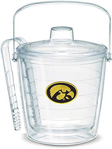 Tervis 1053388 Iowa Hawkeyes Logo Ice Bucket with Emblem and Clear Lid 87oz Ice Bucket, Clear ()