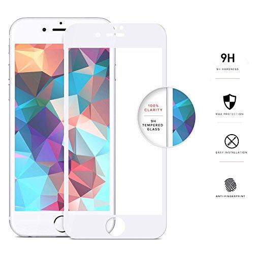 Zizo Protection d'écran en Verre tempéré pour iPhone 7 Blanc