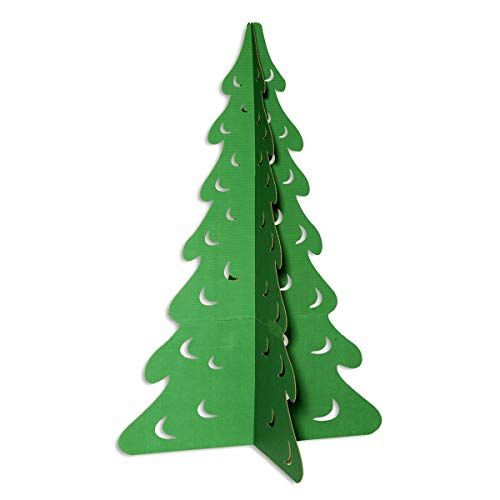 Green Evergreen Tree Cardboard Kit, 69 Inches x 46 Inches Diameter]()