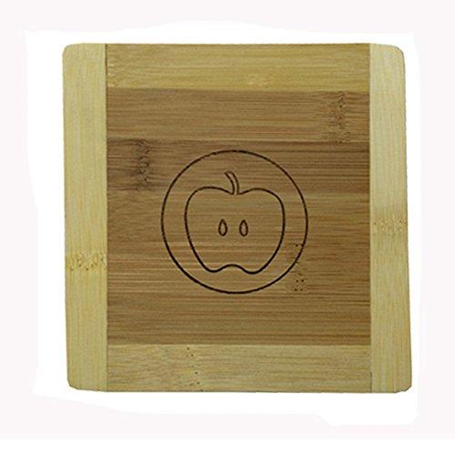 Cute Moso Bamboo Place Mat/ Cup Mat/ Pot Holder, Set of 4