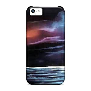 Awesome Case Cover/iphone 5c Defender Case Cover(lighthouse Stormy Night)