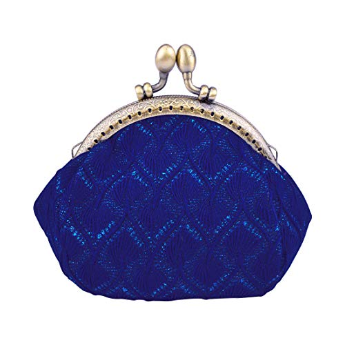 Oyachic Large Coin Purse Vintage Pouch Buckle Clutch Bag Kiss-lock Change Purse Knitting Clasp Clutch Wallets Cosmetic Bag For Women Girl
