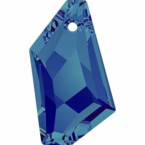(Swarovski 6670 Pendant De-Art | Crystal Bermuda Blue | 24mm - Pack of 1 | Small & Wholesale Packs )