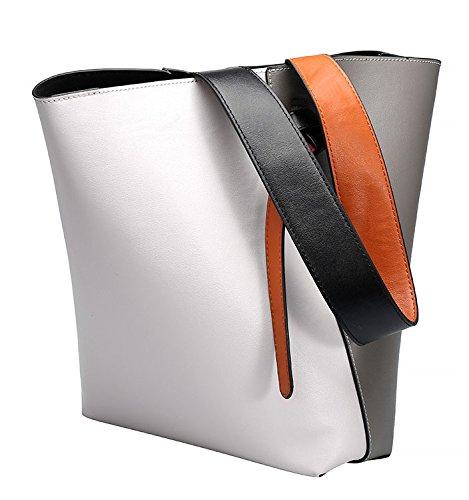 a spalla in in Borsa pelle a pelle design spalla vera vera di a mano PIqz5q