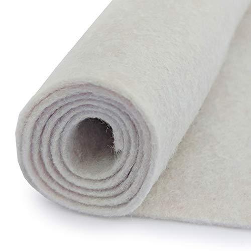 Antique White - Wool Felt Oversized Sheet - 20% Wool Blend - 36 in x 36 in Sheet
