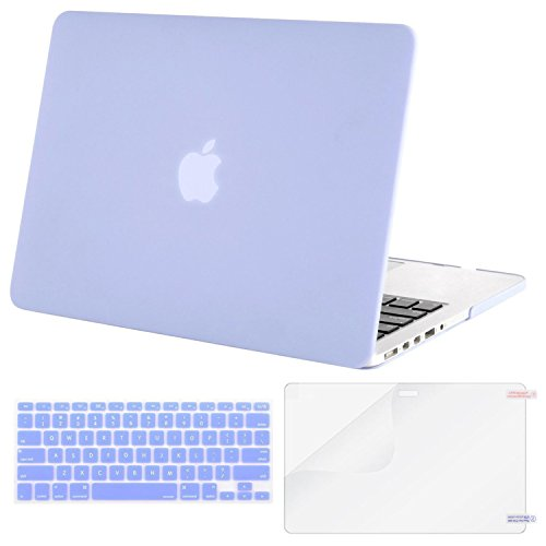 Mosiso Plastic Hard Case with Keyboard Cover with Screen Protector Only for MacBook Pro 13 Inch with Retina Display No CD-Rom (A1502/A1425, Version 2015/2014/2013/end 2012), Serenity Blue