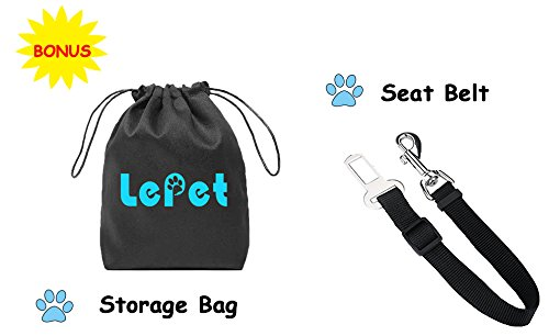 Lepet Dog Car Seat Covers Pet Seat Cover for Cars, Waterproof Scratch Proof and Anti-slip Backing, Padded & Quilted Durable 4 Layers, Machine Washable Car Backseat Cover For Pets by Lepet (Image #7)