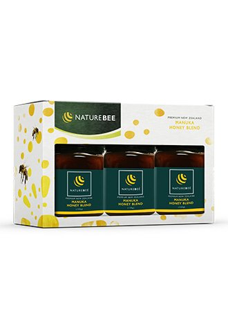 NatureBee Premium New Zealand Manuka Honey. Best for Immunity, Digestive Health and Organic Recipes. Natural, Raw and Doctor Recommended. 125 Gram Jars, Set of 3. by Nature
