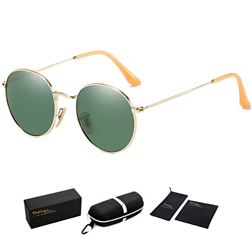 Dollger Dark Green Oval Glasses Retro Vintage Green Aviator Sunglasses for Women - Sunglasses 1960