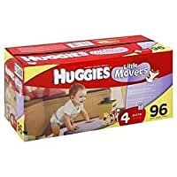 Huggies Little Movers Diapers Size 4 96 Count (Disney Winnie The Pooh)