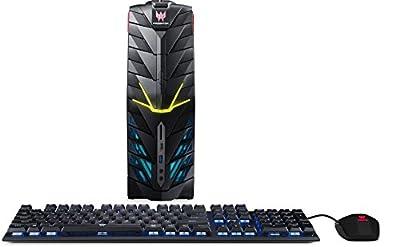 Acer Predator Desktop, 7th Gen Intel Core i7-7700, GeForce GTX 1060, 16GB DDR4, 512GB SSD, 2TB HDD, Win 10 - Black - G1-710-70010
