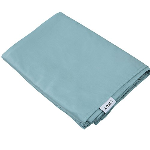 ZonLi Removable Duvet Cover for Weighted Blanket | Blue | Bamboo Duvet Cover | 55''x82''