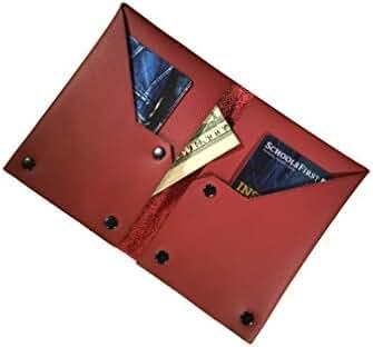 NIC GIOR Edge Riveted Slim Italian Leather Wallet.