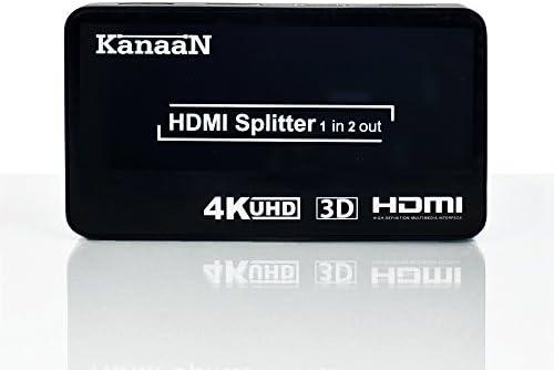 KanaaN HDMI Splitter 4K 1x2 Switch | soporta señales UHD UHD-TV ...