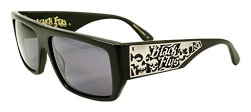 Black Flys Men's 'SCI FLY 5' Matte Black Frame / Grey Polarized Lens Square 59 mm - Sunglasses Sci