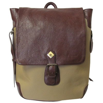 Amerileather Brown Two-tone Backpack (#1520-2)