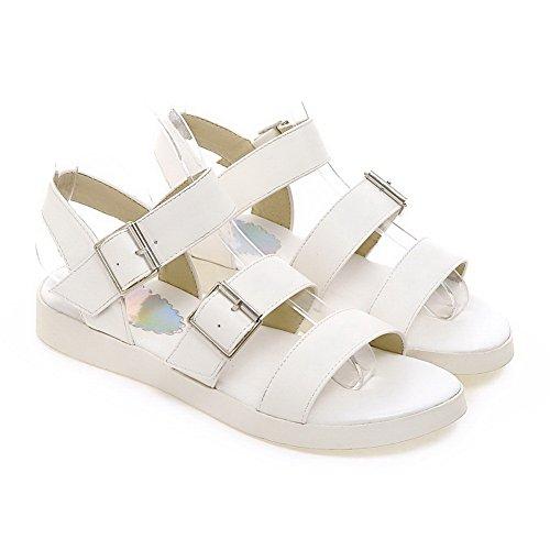 AdeeSu Womens Hiking Travel Solid Urethane Sandals SLC03981 White VjAyH5KS