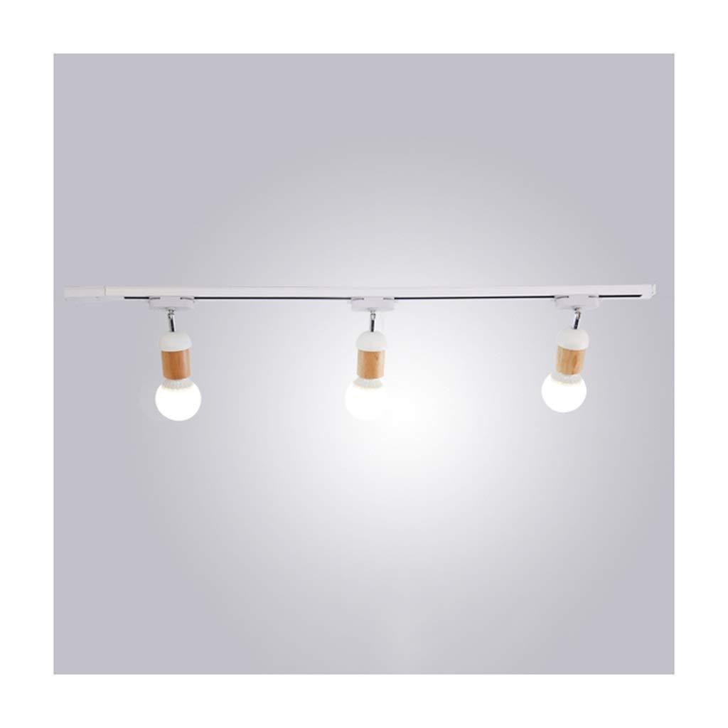 天井照明 シーリングライトモダンクリエイティブE27ウッドアイアン調整可能なリビングルームの装飾壁画照明廊下背景壁天井ランプ-1 / 3/4ヘッド シーリングライト (色 : B, サイズ さいず : 3頭) B07SBLP7TY B 3頭