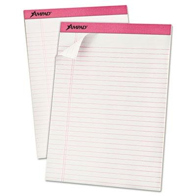 Ampad - Breast Cancer Awareness Pads Lgl/Wide Rule Ltr Pink 6 50-Sheet Pads/Pack 'Product Category: Paper & Printable Media/Notebooks & Writing Pads'