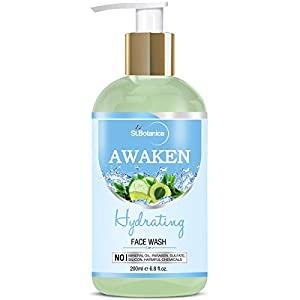 StBotanica Awaken Hydrating Facial Cleanser (Face Wash with Green Tea & Cucumber) 200ml
