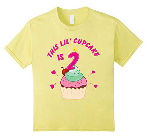 Kids 2nd Birthday Girls Cupcake T-Shirt Party 2 Year Old ...