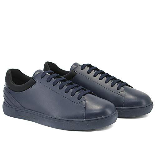 Uomo x4x224 Emporio Blu 40eu Art Dettaglio Armani Pelle Nero Sneaker Da Con UnHqvRtHx