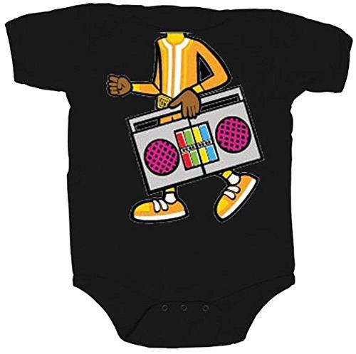 Yo Gabba Gabba I Am DJ Lance Snapsuit Infant Black Onesie Baby Romper (Infant 6-12 Months) -