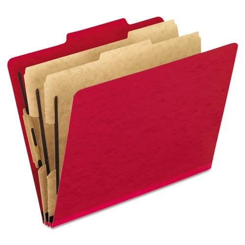 (Pressguard Classification Folders, Letter, Six-Section, Scarlet, 10/Box, Sold as 10 Each)