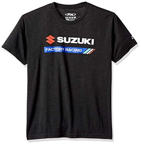 FX FACTORY EFFEX Men's Suzuki Factory Racing t-Shirt, Heather Black ()