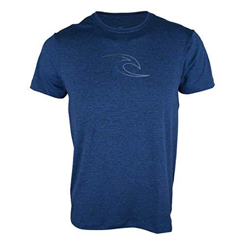 Camiseta Rip Curl Sunoff Uv Icon Fade Azul Mescla-P