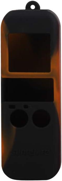 Silicone Case with Anti-Lost Lanyard Darkhorse Wrist Strap for DJI Osmo Pocket Black/&Orange Black/&Orange