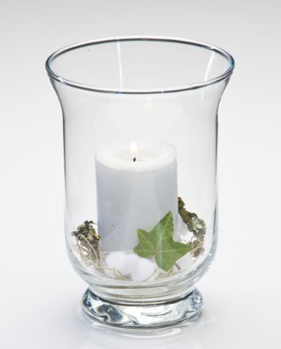 Glasvase PROMO hurricane, Windlicht Glas Tischvase Kerzenglas 19 cm