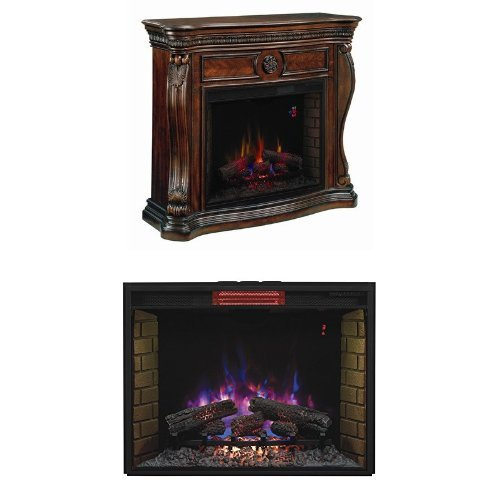 complete-set-lexington-media-mantel-with-33-infrared-spectrafire-plus-insert-with-safer-plug