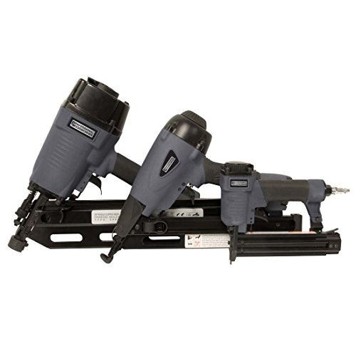 Nailer Angle Brad (Professional Woodworker 7613 3 Piece Pneumatic Nailer Combo Kit)