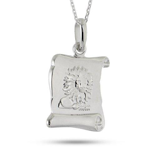Tous mes bijoux - COTC01022 - Collier avec Pendentif Mixte - Lion - Argent 925/1000 5.9 gr - 42 cm