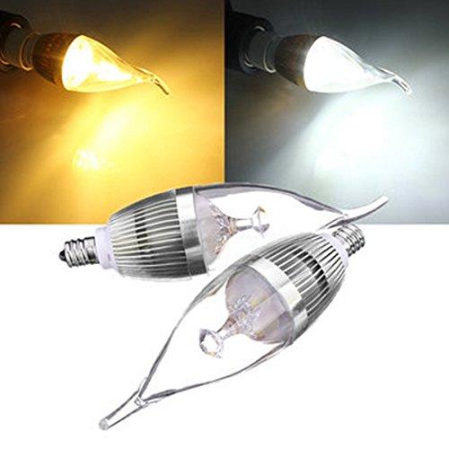 Lights & Lighting - E12 3w 300-330lm Led Chandelier Candle Light Bulb 85-265v - E12 Candle Bulb Candelabra Watt Equivalent Chandelier Light Bulbs Outside Dimmable Ledmo - Led - 1PCs (Clear Three Light Candlestick)