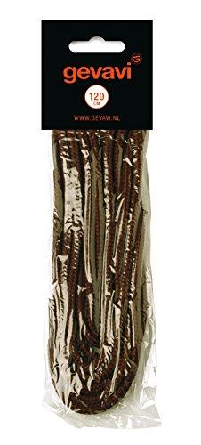 Gevavi Safety Vete05090 Lacci Delle Scarpe Rotondo 10 Paia, 90, Marrone