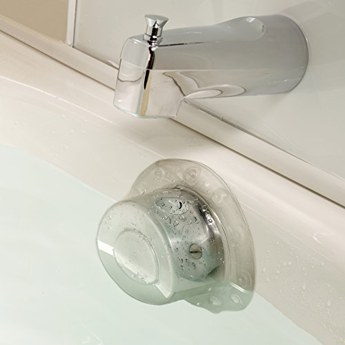 SlipX Solutions Bottomless Bath Overflow Drain Cover Adds Inches of Water to Tub for Warmer, Deeper Bath (Clear, 100% Recyclable, 4