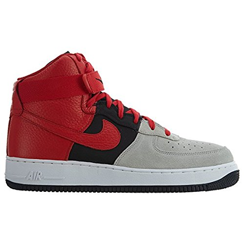Nike Air Force 1 High '07 LV8 Men's Shoes Wolf Grey/University Red 806403-007 (11.5 D(M) US)