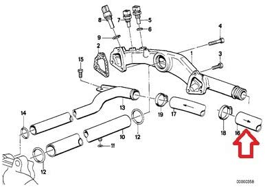 BMW Genuine Heater Hose Inlet 1//Coolant Pipe for 750iL E32