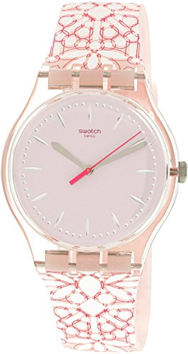 Swatch Women's Fleurie SUOP109 Pink Silicone Swiss Quartz Fashion - Women's Swatch