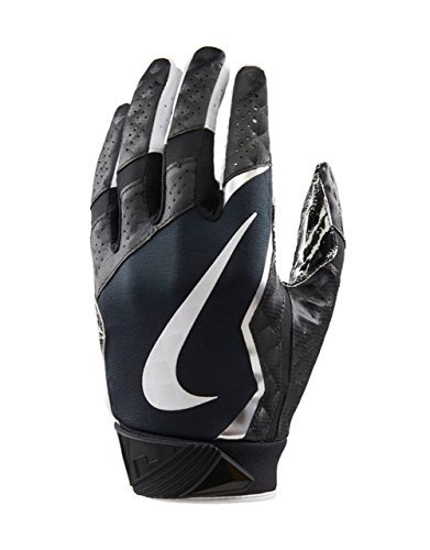 Nike Men's Vapor Jet 4 Football Gloves-Black/Metallic Silver-Medium