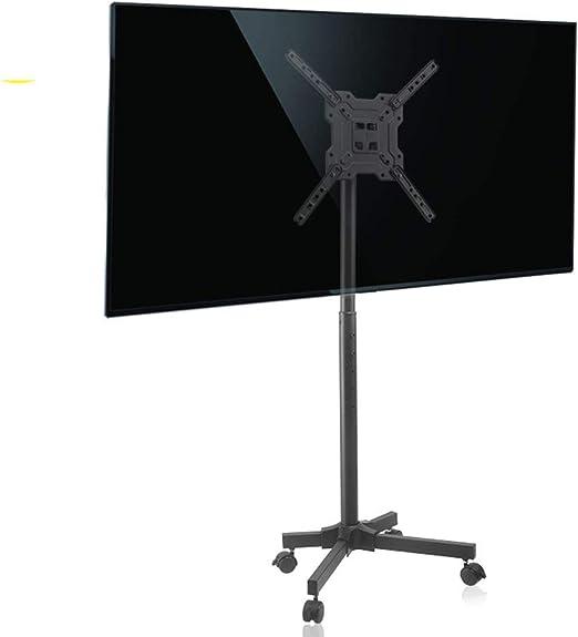 CCDZDM Rolling TV Stand Mobile TV Carro para 17-50 Pulgadas Altura ...