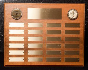 Walnut Perpetual Plaque with 24 Plates