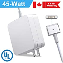 45W Replacement Charger for MacBook - Compatible with 11 inch 13 Inch Magnetic Connector T Tip Magsafe 2 Power Adapter Replacement Charger for Mac Book Air (Mid2012-2017)