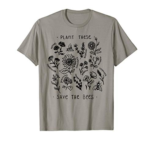 Bee Womens T-shirt - Plant These Save The Bees TShirt